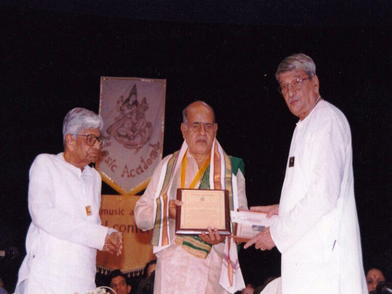 Dr.SCM-sangeetakalanidhi award music academy chennai-5